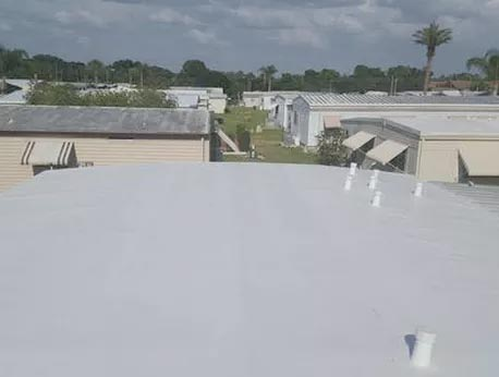 TPO mobile home roof over
