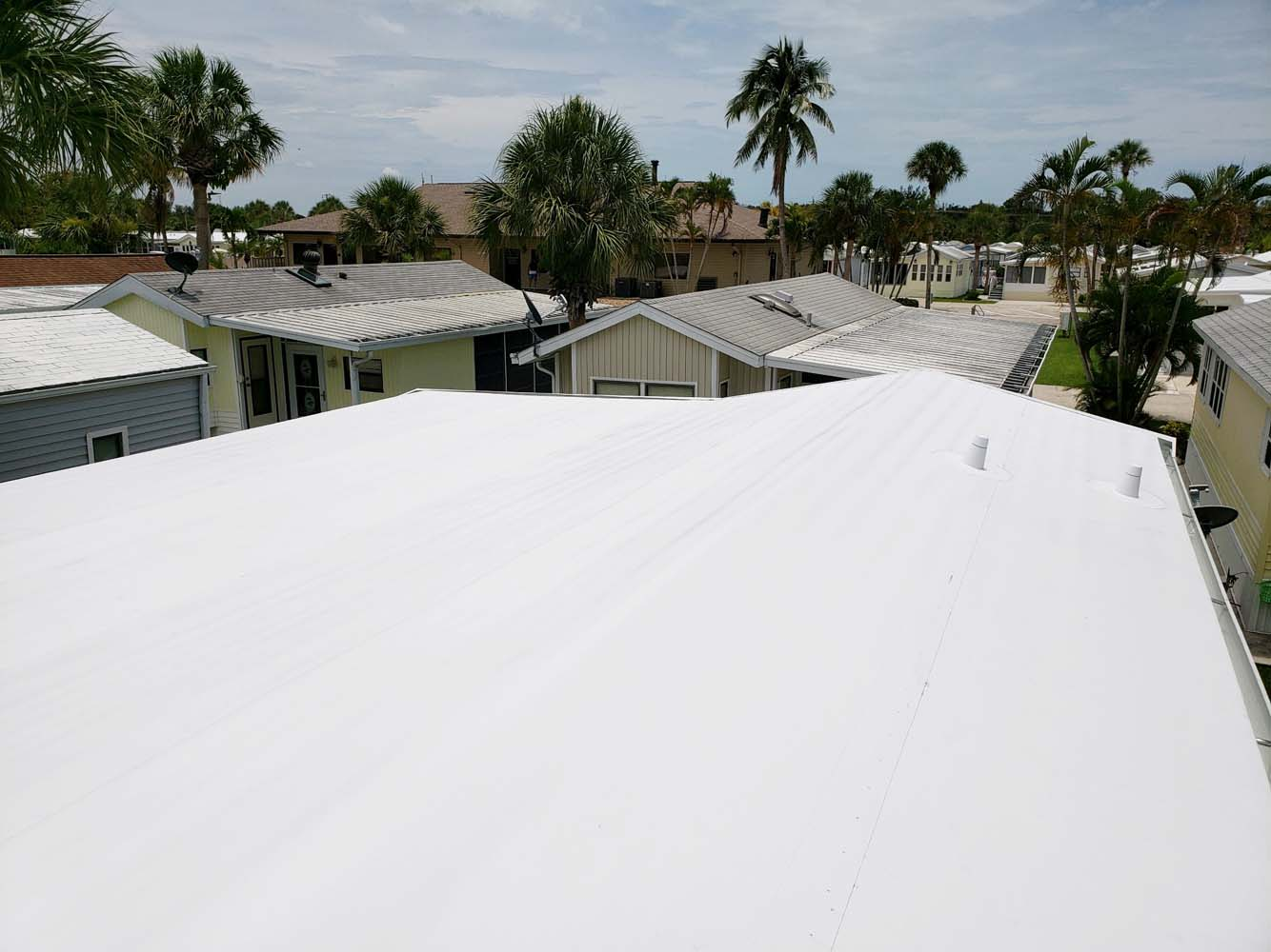 Mobile Home Roof Over Fort Myers