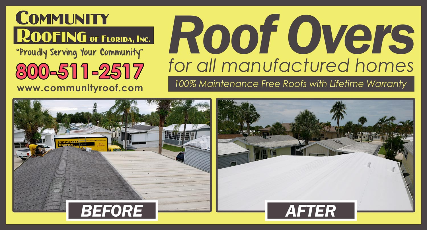 Mobile Home Roof Over Fort Myers, FL