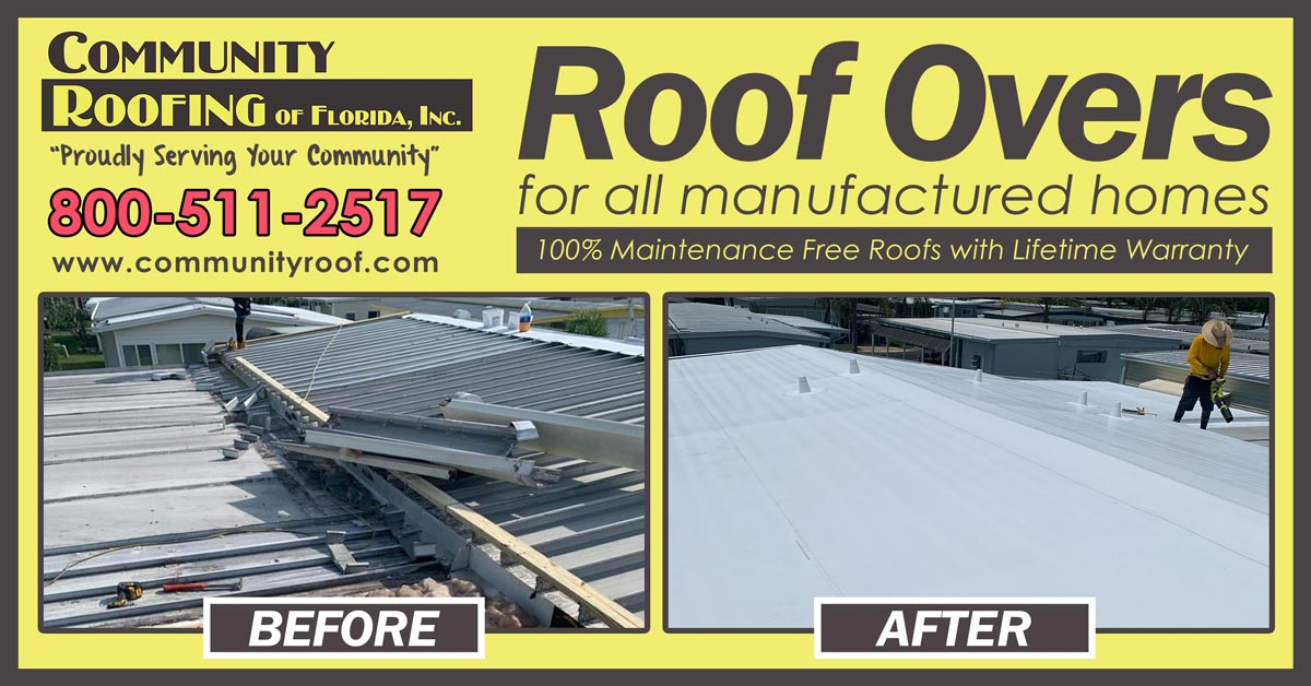 Manufactured Home Roof Replacement, Largo, FL
