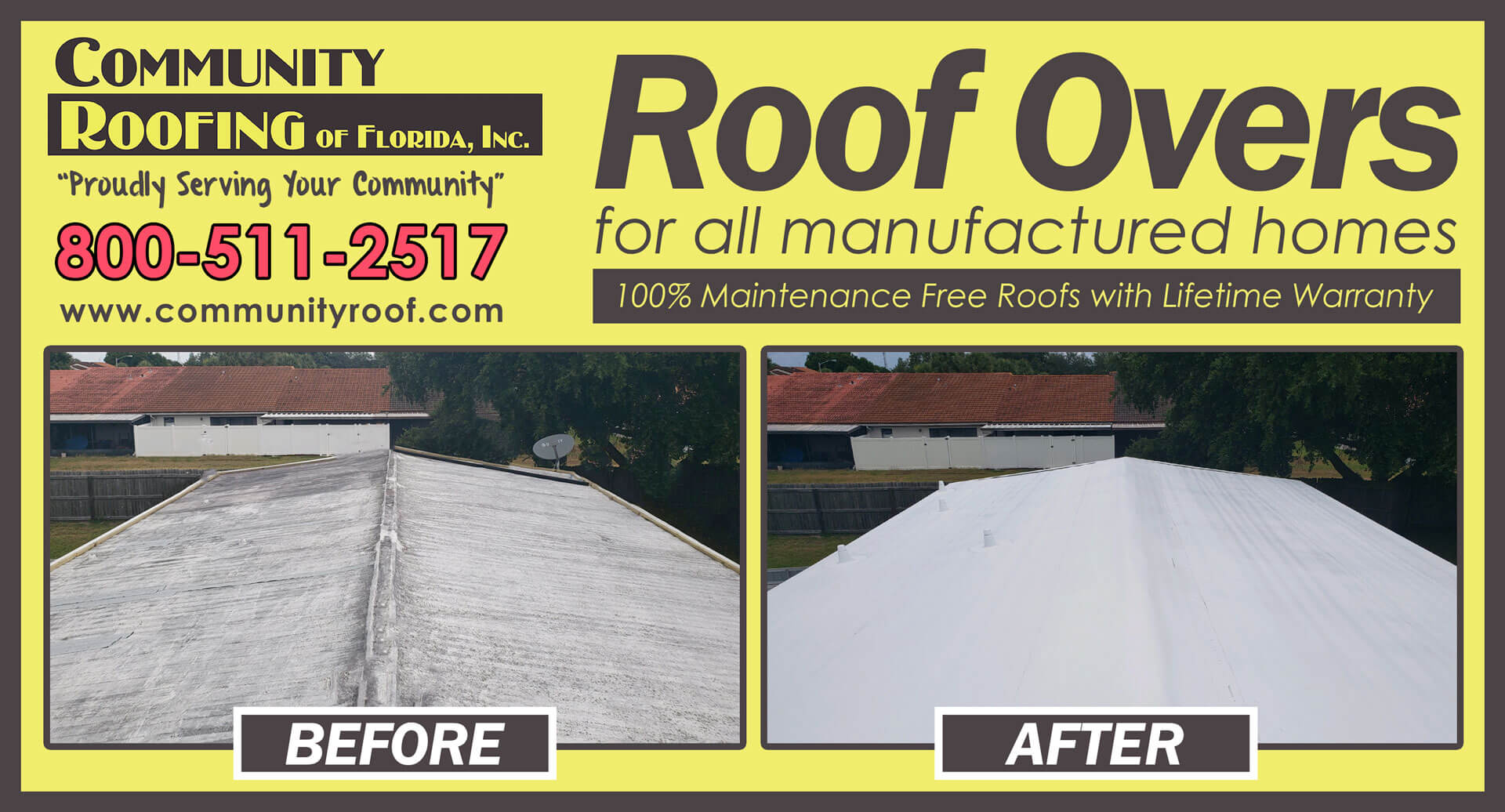 Mobile Home Roof Over Largo Florida