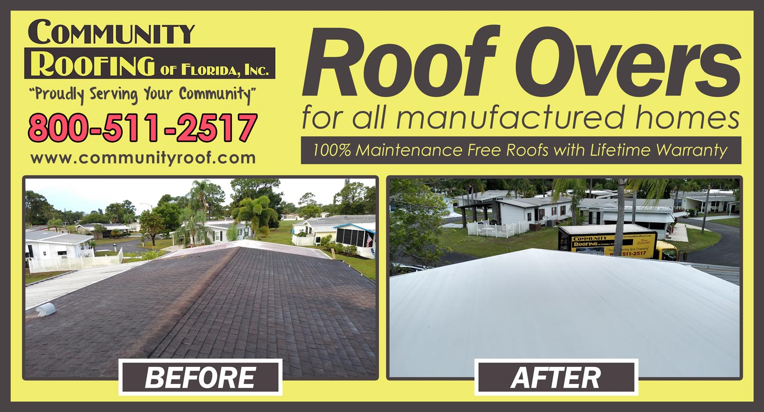 Mobile Home Roof Replacement North Fort Myers, FL