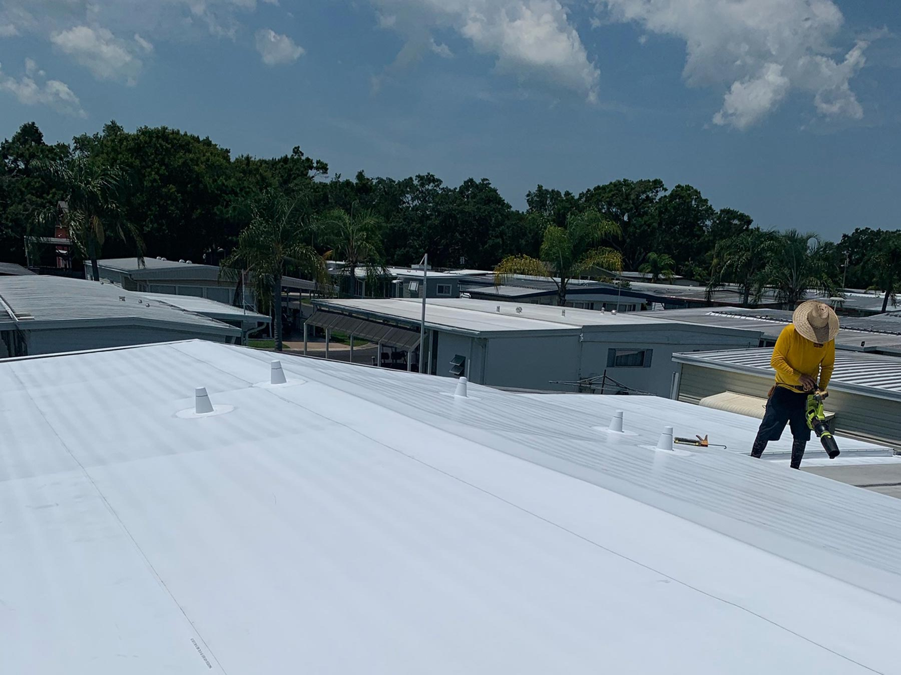 Mobile Home Roof Over Largo, FL