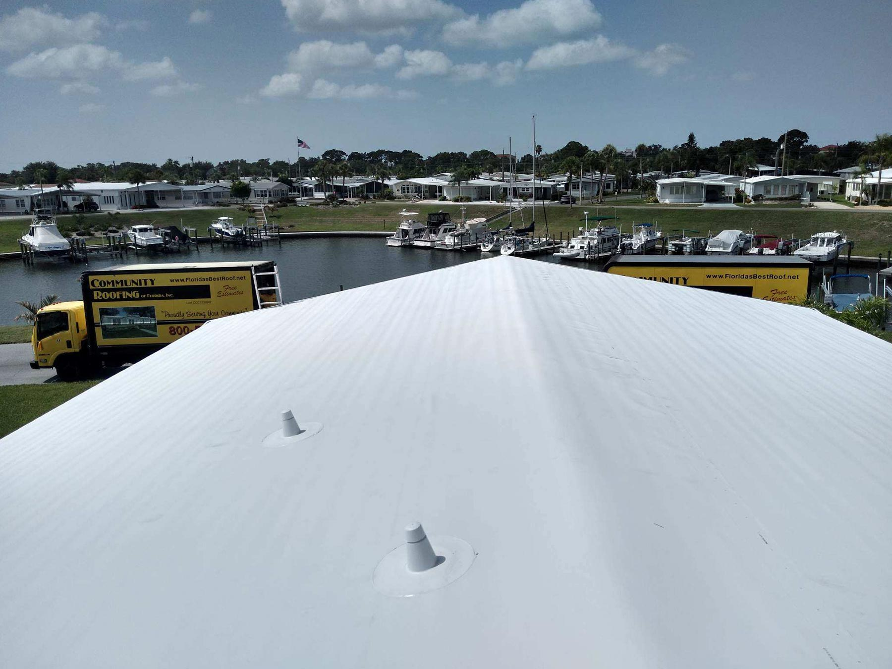 Mobile Home Roof Over Venice, FL