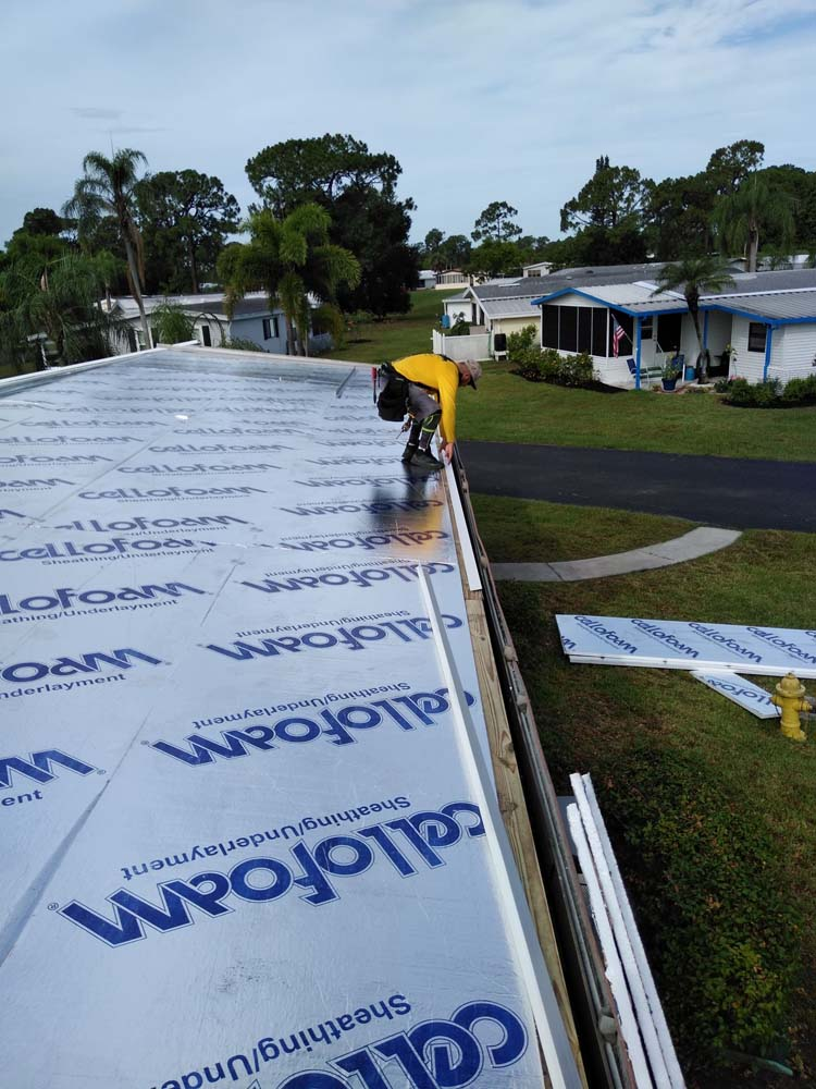 Roof replacement for mobile homes.
