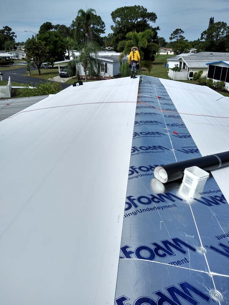 Roof replacement North Fort Myers manufactured homes.
