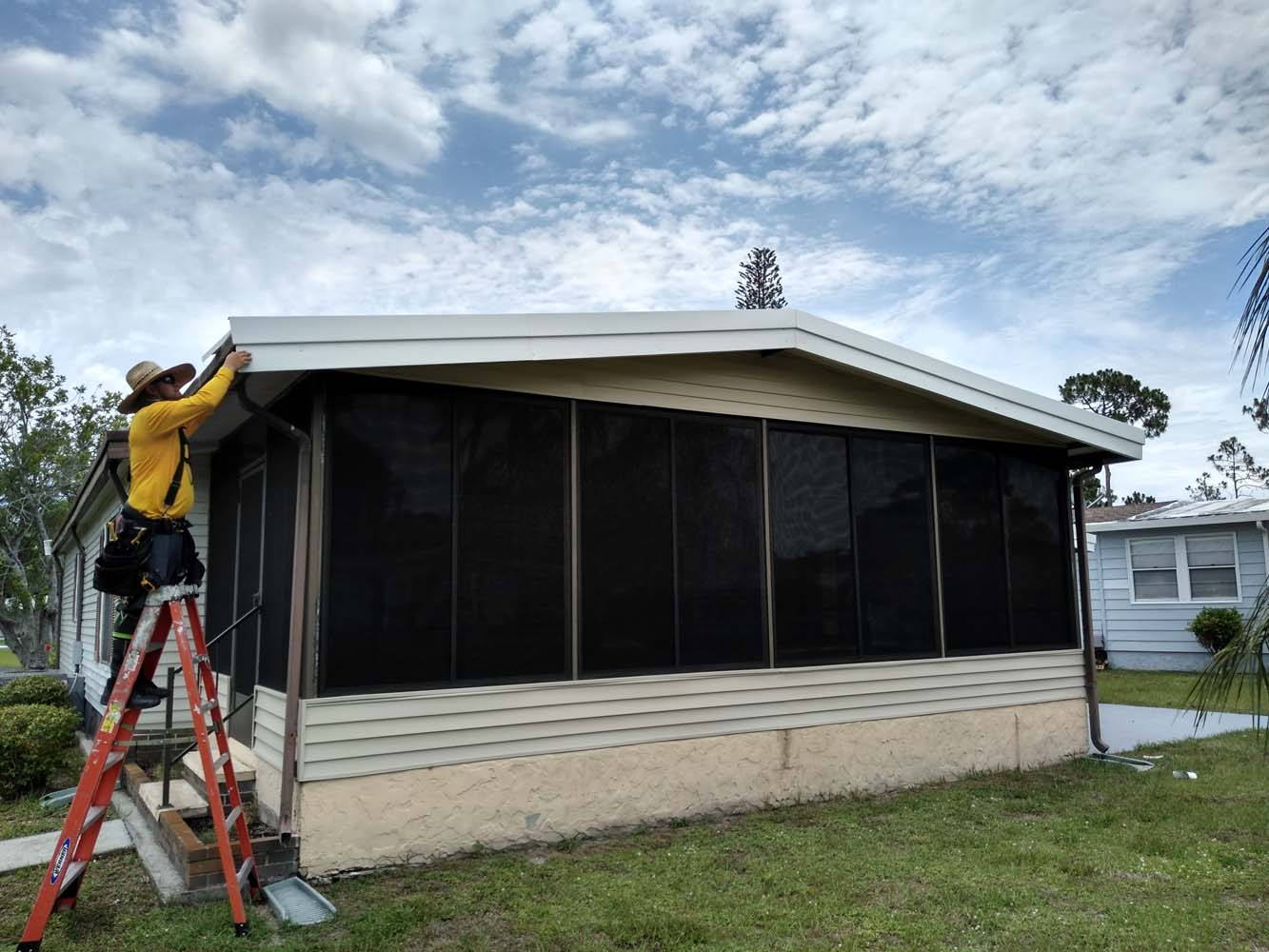Roof replacement in North Fort Myers for mobile homes.