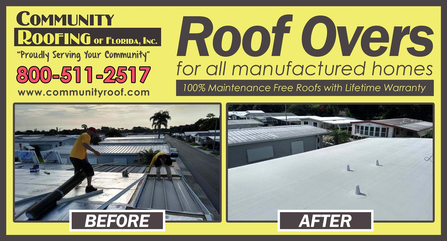 Manufactured Home Roof Replacement - Largo, FL