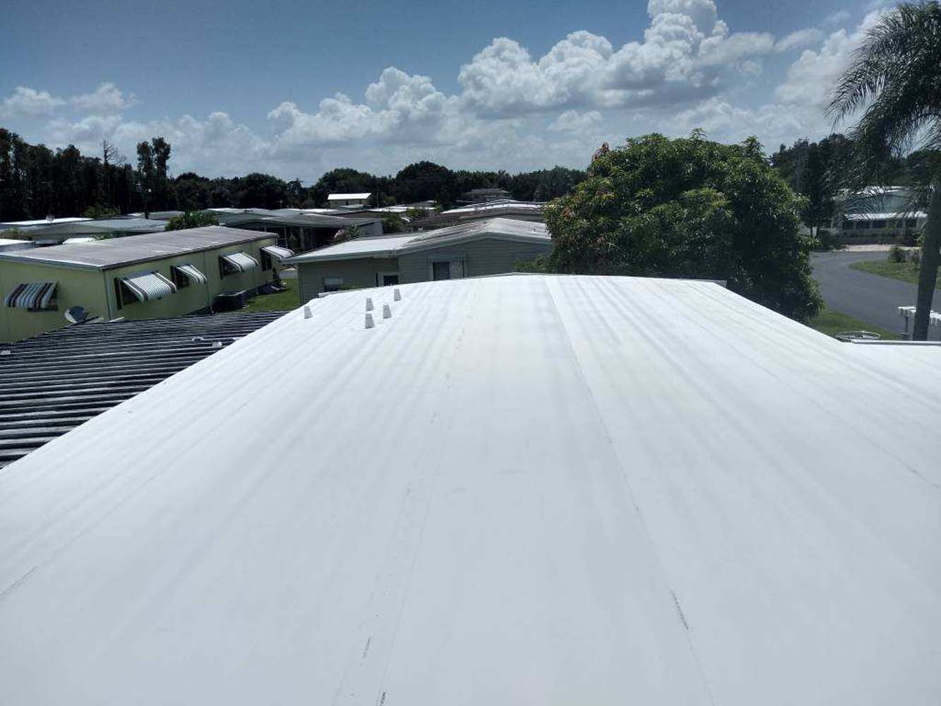 Mobile Home Roof Over North Fort Myers
